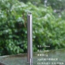 EDC Gear CNC Tactical Pen 4.8″ steel Tactical Pen Keychain Survival EDC Tool Self Defense Waterproof P-02