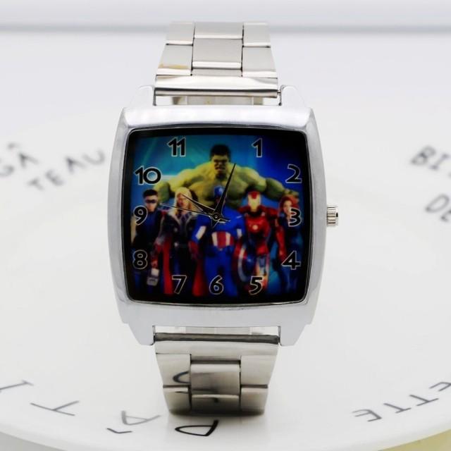 Новые модные золотые наручные часы кварцевые часы Женское платье со стразами часы Микки часы дети для леди часы