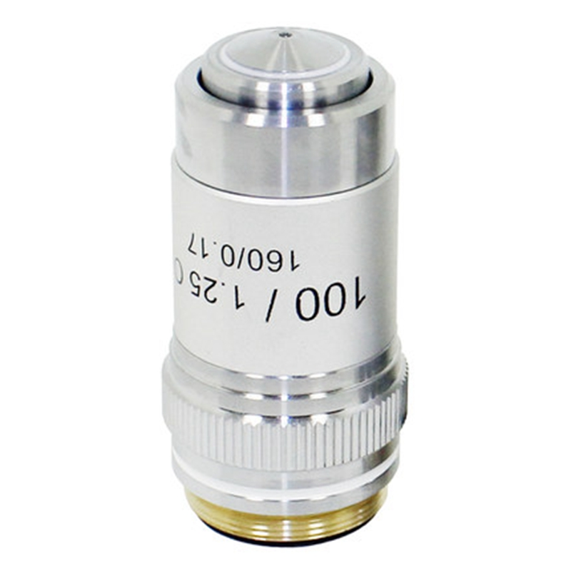 100x Achromatic Objective Biological Microscope Objective Optical Lens Tube Length 160 mm Conjugate Distance 195 mm
