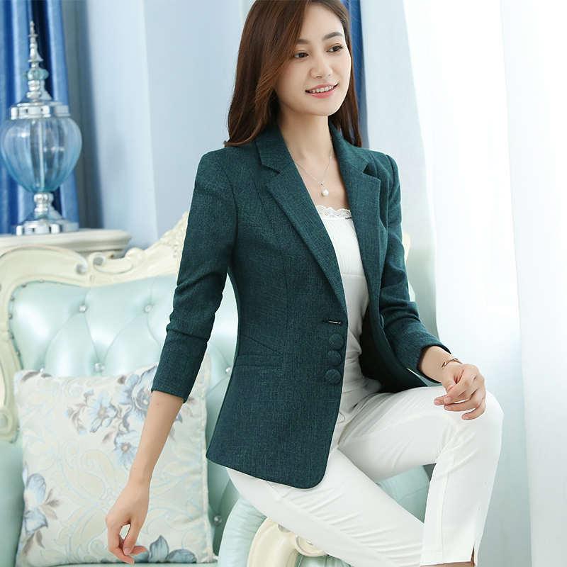 2019 New Fashion Women Blazers And Jackets Korean Style Female Blue Blaser Coat Femme Feminino Plus Size Work Wear Suit Blazers