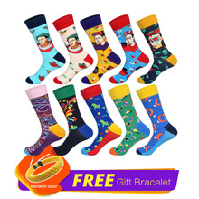 LIONZONE 10Pairs/Lot Happy Socks Funny Wedding for Men Harajuku Hip Hop Art Cotton