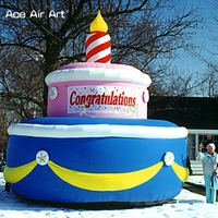 Customized giant cake replica inflatable birthday cake model,huge cake with candle for events