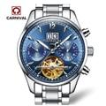 Carnival tourbillon automatic mechanical popular brand men's watches military waterproof luminous multifunction full steel watch