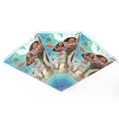 Moana 紙プレートカップフォークスプーン招待 Tablecover ケーキトッパーバッグボックスバルーン好意ホリデーパーティー誕生祭ギフト