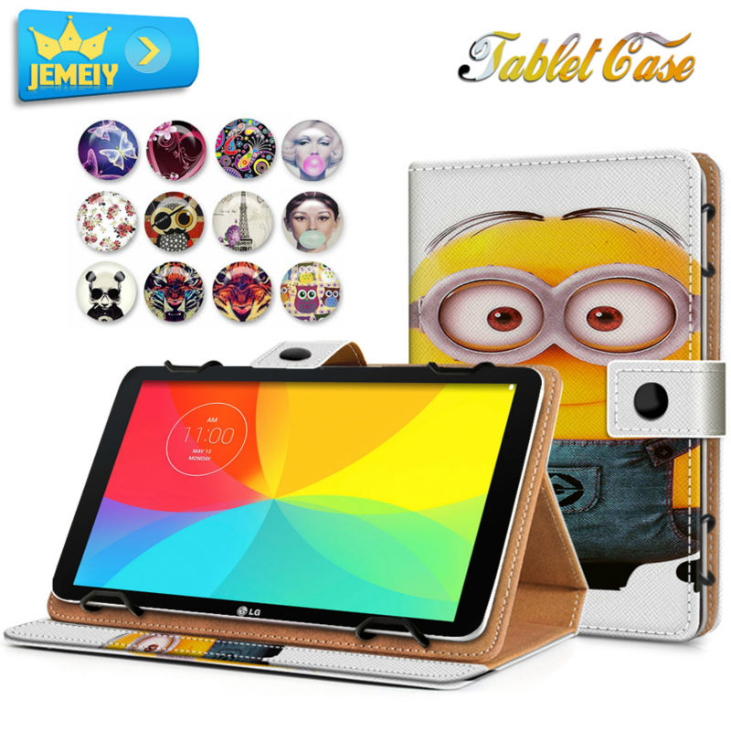 10.1'' Leather case For LG G Tablet 10.1 V700/ G Pad II Universal Cover Printed Tablet Stand case For LG G Pad II Tablet Cover