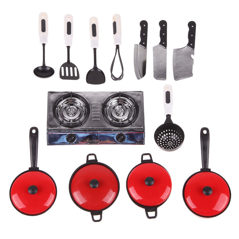 Hot Sell Kids Toy Kitchen Hob Oven Cooker Food Pots Pans Cooking Play Set Kitchen Toys [SM] FL