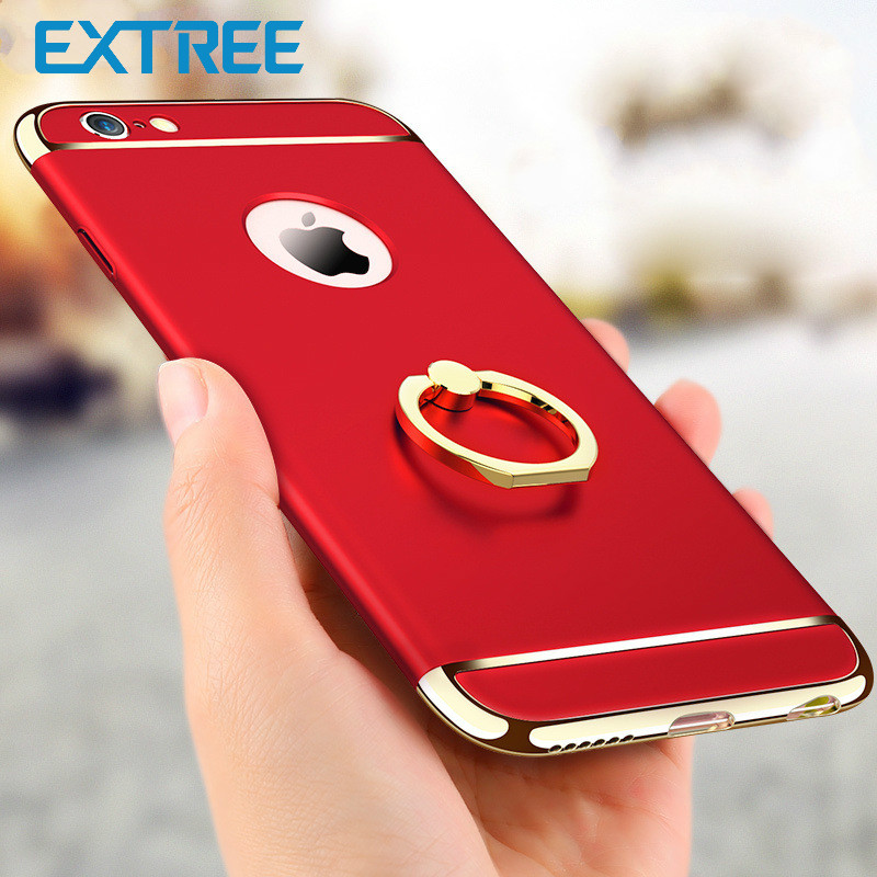EXTREE Case for iPhone7plus Mobile Case Three-piece All-inclusive Scrub Phone Case 6s Cover