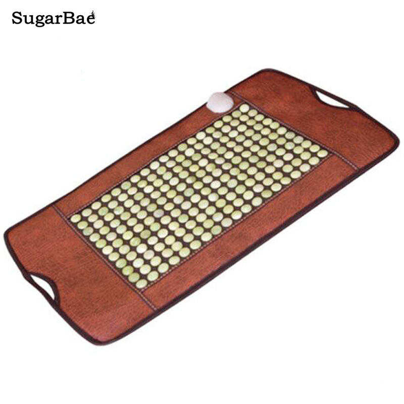Korea Jade Mattress Stone Massage Mat Far Infrared Thermal Physiotherapy Health Care Pain Relief Heating Pad Size 100*50CM pop relax tourmaline health products prostate massager for men pain relief 3 balls germanium stone far infrared therapy heater