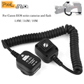 Pixel FC-311 1.8m 3.6m 10m TLL Off-Camera Cable Flash Sync Extension Cord Hot Shoe for Canon Eos 1000D 550D 500D 450D 400D 350D