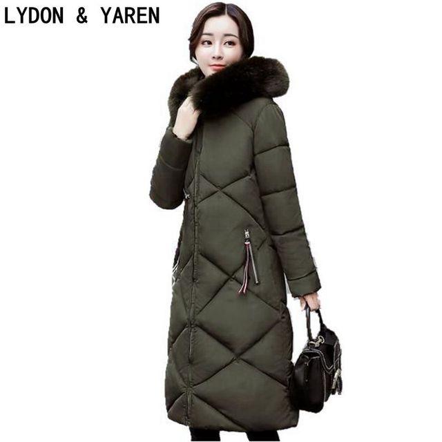 Invierno Para mujer Abrigos y chaquetas con cremallera Brillante cuerda  chaqueta con capucha cuello de piel 4bfbca09a74c