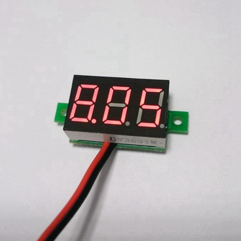 20pcs/lot Red LED display panel voltmeter digital DC 2.5-30V volt <font><b>watt</b></font> voltage gauge <font><b>meter</b></font> car <font><b>battery</b></font> monitor