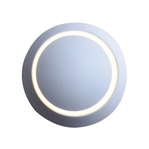 Image 3 - QLTEG 5W LED Wall Lamp 360 degree rotation adjustable bedside light 4000K Black creative wall lamp Black modern aisle round lamp