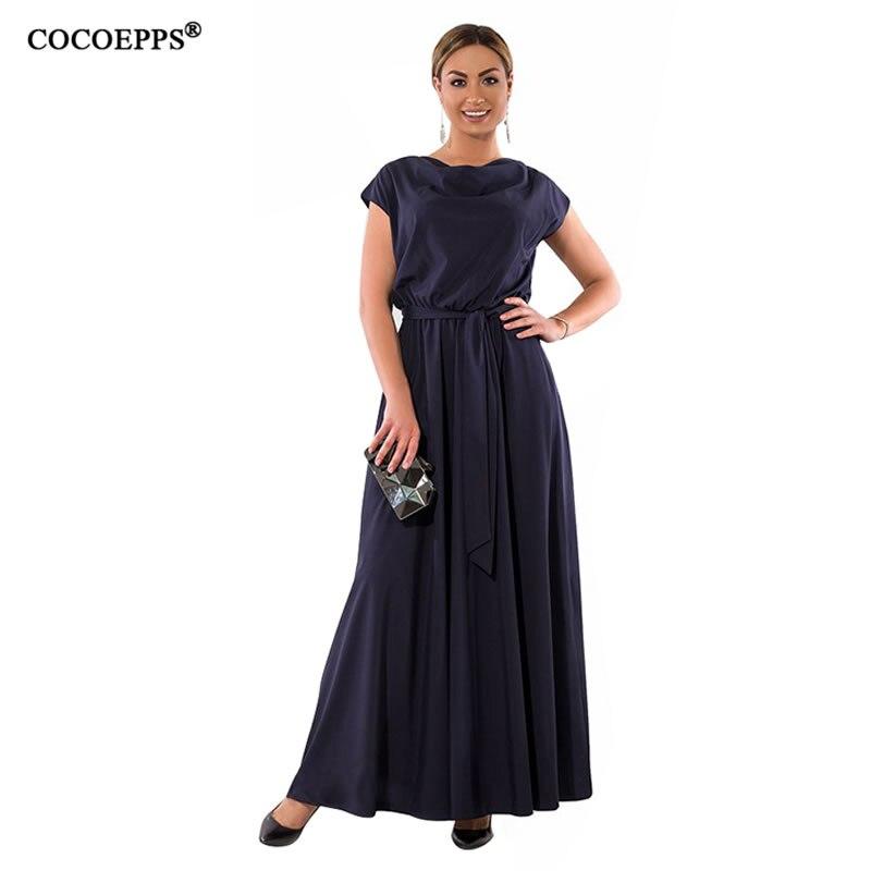 9846fc0ab95 5XL 6XL большой Размеры Для женщин длинное платье 2019 Для летних вечеринок  платье Повседневное плюс Размеры