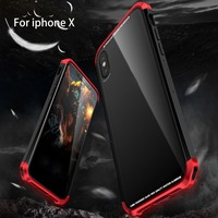 LUPHIE Toughened Glass Phone Case Protective Mobile Phone Cover For IPhone X For Iphone 8 Case