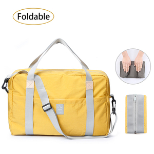 Image 1 - Дорожная сумка через плечо, большая Складная спортивная сумка для путешествий, кемпинга, портативная легкая багажная сумка, водонепроницаемая сумка для хранения