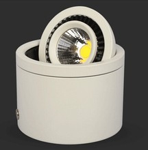 Factory Wholesale White shell 10W Warm White/Cold Super Bright COB Surface Mounted led down light 85-265V Free shipping