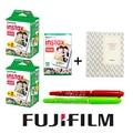 50 hoja blanca fujifilm instax mini 8 film + regalo un álbum y 2 tiralíneas para fujifilm instantánea mini 7 s 25 50 s 90 cámara