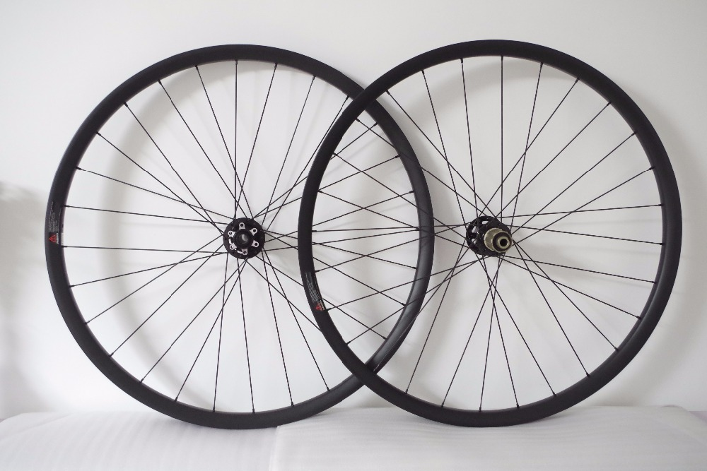 "DEERACE 29"" 27.5"" 26"" 28/32H 24mm x 23.5mm SUPER LIGHT TUBELESS MTB CARBON CLINCHER WHEELS SAPIM CX-RAY SPOKES for XC"