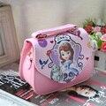 Nueva llegada caliente-venta del niño bolsas bolsa de mensajero del bolso de la princesa del niño femenino de la princesa niña pequeña bolsa de mensajero
