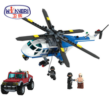 New City Police Swat Cop Helicopter Building Blocks DIY Compatible Legoes Educational Bricks Toys for Children Christmas Gift gudi 9318 465pcs city police station helicopter building blocks kids educational diy bricks toy for children christmas gift
