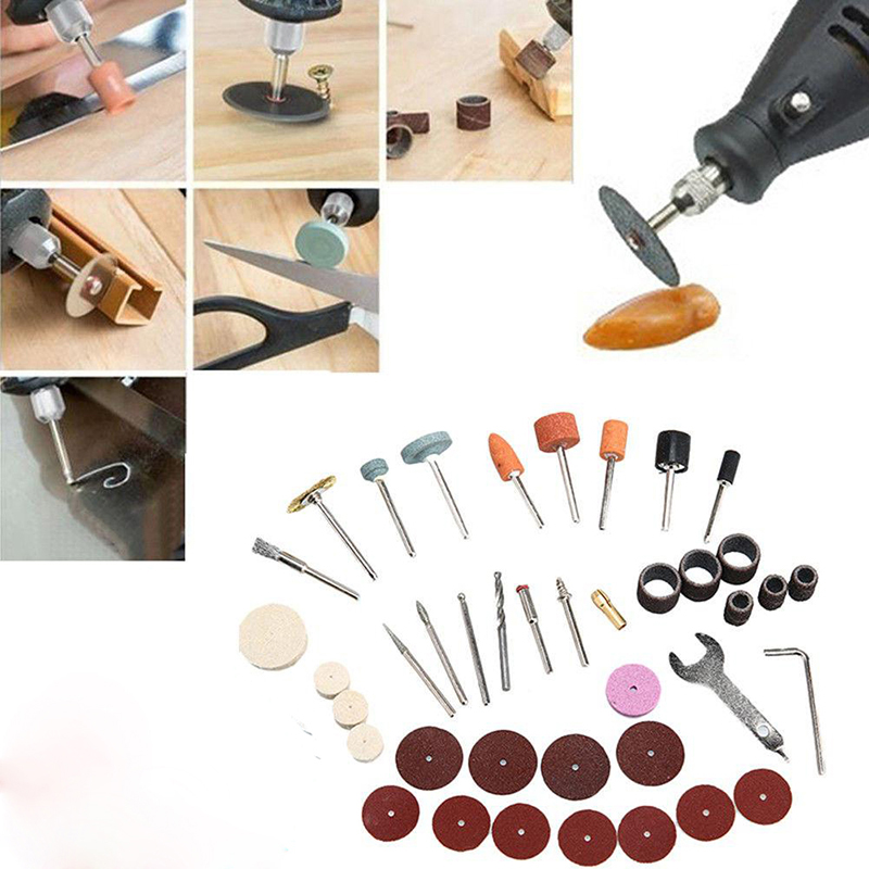 Image 3 - 40pcs/Set Electric Grinder Rotary Tool Accessory Bit Set For Grinding Sanding Polishing Disc Wheel Tip Cutter Drill Disc-in Abrasive Tools from Tools