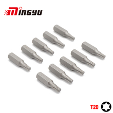 "10PCS 25mm 1/4"" Torx T20 Screwdriver Bit Set Repair Too"