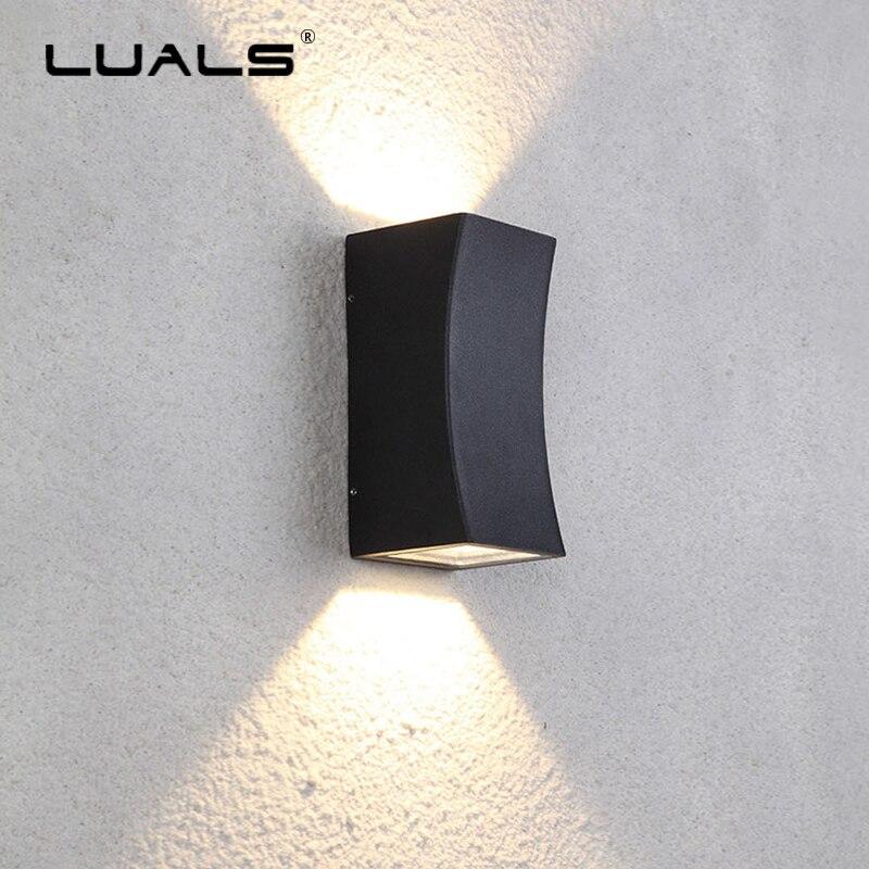 jardim ao ar livre lampada de parede criativo parede de aluminio fundido luzes lampadas corredor lampada