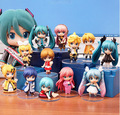 Anime Figure 6.5 CM Cute 6pcs/set Hatsune Miku Thor PVC Action Figure Collectible Model Toy Doll Christmas Gift