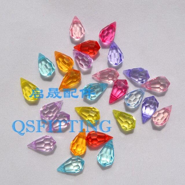 100 pcs DIY de bijoux de mode Transparent Acrylique Perles 15*8 MM en Forme de Goutte Perles Mix Couleur Boucle D'oreille Artisanat accessoires
