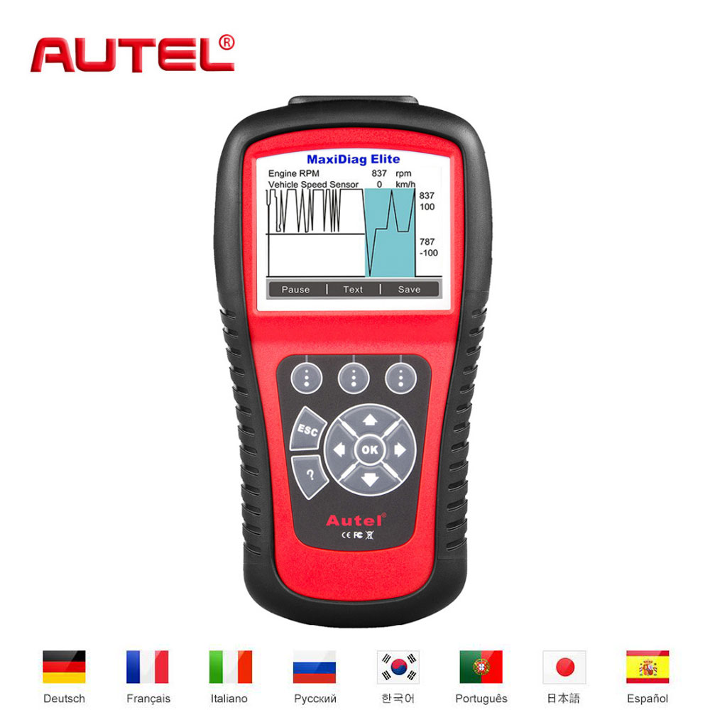 Autel MD802 MaxiDiag Elite auto-diagnosewerkzeug OBD2 Automotive Scanner diagnose-tool Codeleser-scan-werkzeug Scaner Automotriz