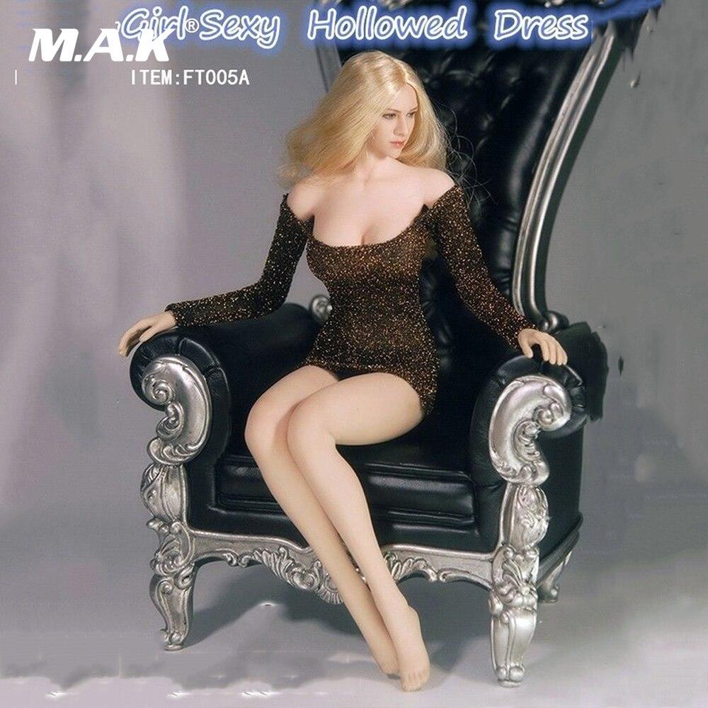 FT005 1:6 масштаб гриль Сексуальная Hollowed платье Одежда для 12 бесшовные фигурку тела аксессуар