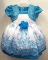Crianças vestido menina com flor da festa de Baby Girl Chirstening princesa vestidos formais