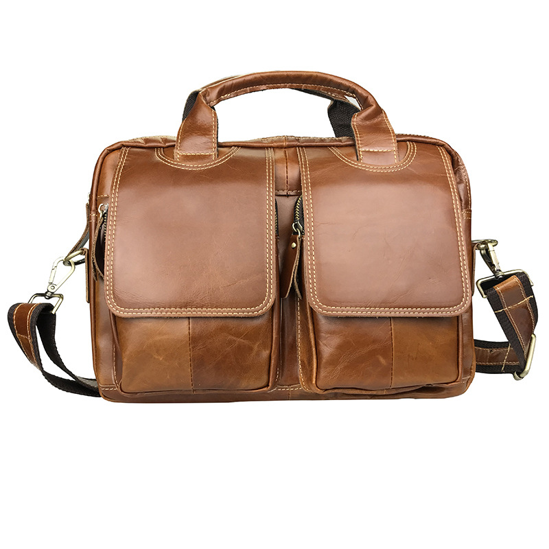 Vintage Brown Genuine Leather Men Messenger Bags Shoulder Bag Real Skin Male Portfolio A4 Office Briefcase how to check for breast cancer lumps adopt the new test for breast cancer device