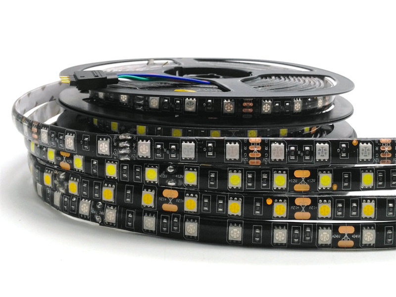 Tira de LED 5050 RGB PCB negro DC12V Luz LED flexible 60 LED / m5050 - Iluminación LED - foto 2
