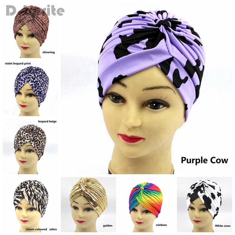 Chemo Hijab Turban Cap Fashion Head Wrap Polyester Print Elastic Retro Beanie Hat Scarf Summer Women Bonnet Cancer QDD9122 imucci 13 colors solid muslim turban cap women elastic beanies hat bandanas big satin bonnet indian women turban black red