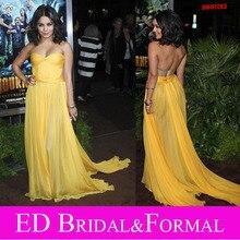 Vanessa Hudgens Gelb Dres Berühmtheit Abend Prom Formal Pageant Kleid Reise 2 Premiere