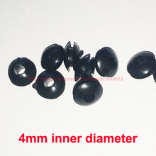 цена на 4mm Inner Diameter Black Rubber Cable Protection Wire Grommets Hole Plug