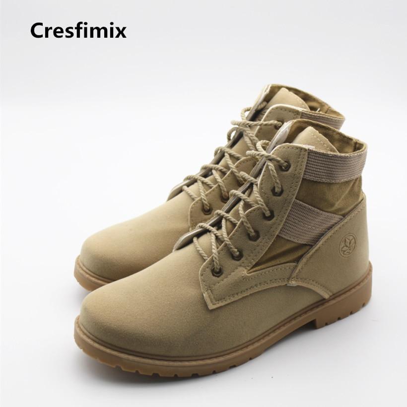 Cresfimix botas de hombres men fashion spring and autumn lace up boots male cool & comfortable platform shoes male leisure boots new fashion boots autumn cool