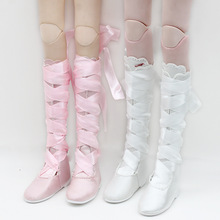 цена на 60cm doll shoes accessories laced long boots sweet princess shoes for 1/3 BJD SD doll clothes accessories girl toy