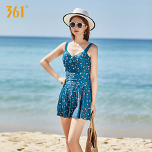 361 Summer Beach One-Piece Swimsuits Women Halter Floral Skirt Swimwear Girl Strap Backless Push Up Pool Hot Spring Bathing Suit