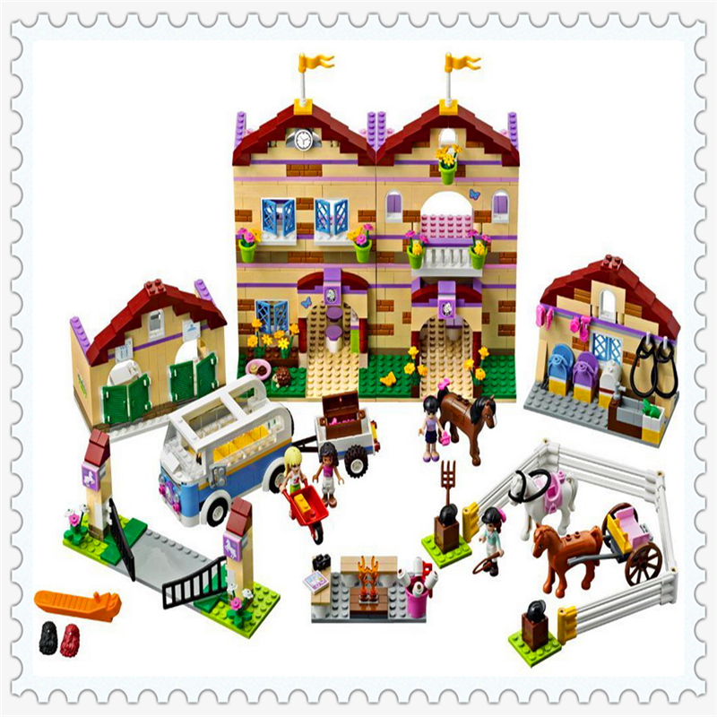 BELA 10170 Friends Series Summer Riding Camp Building Block Compatible Legoe 1118Pcs Toys For Children compatible with lego friends 3185 bela 10170 1118pcs housework time panorama figure building blocks bricks toys for children
