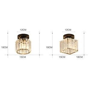 Image 4 - Plafonnier rond et carré, éclairage décoratif de plafond, éclairage décoratif de plafond, E14 Lig, collection cristal LED moderne