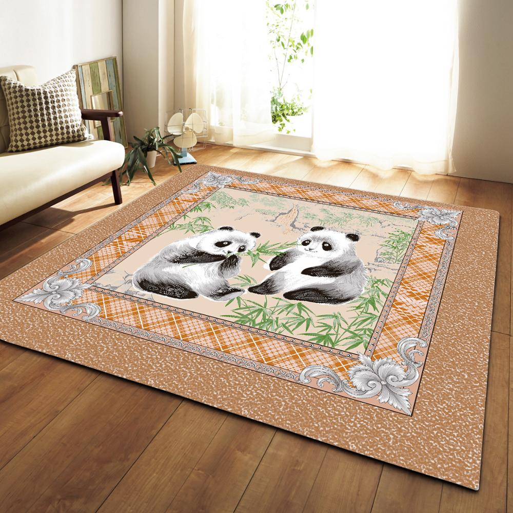 US $27.53 40% OFF|Black/white Panda Printed Large Size Household Rugs Child  Bedroom Game Carpet Non slip Sofa Bedside Area Rug Kids Baby Crawl Mat-in  ...