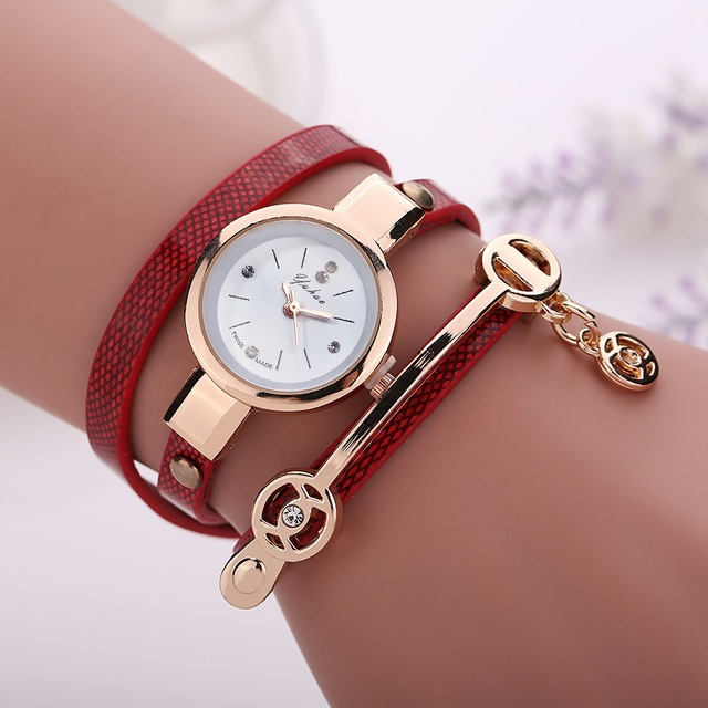 Bracelet Gold Leather Casual Bracelet Watches 3