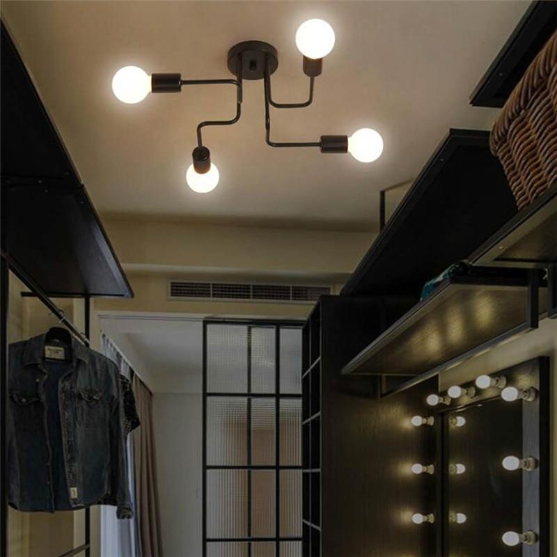 OYGROUP Vintage Smeedijzeren 4 Heads Meerdere Staaf Plafondlamp - Binnenverlichting - Foto 5