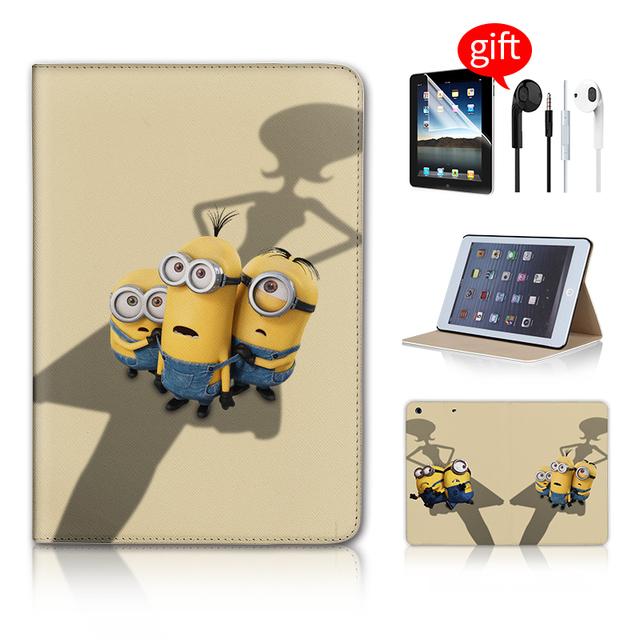 Minion Throw Banana Leather Flip Cover For Apple iPad