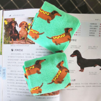 dachshund socks for women cute hot dog crew socks crazy fun socks sausage dog sox lady wiener dog gift novelty 12/24pair pack
