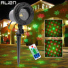 ALIEN RG 2 IN 1 Snowflake Five Pointed Star Outdoor Laser Show Lights Xmas Tree Christams