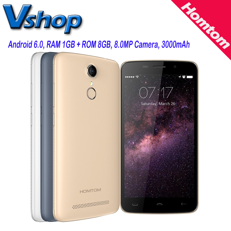 Ht17 homtom android 6.0 5.5 pulgadas 4g lte teléfono celular ram 1 gb ROM 8 GB Q