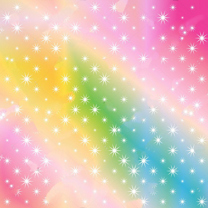 white Stars Rainbow sequin glitter colored cloud party Backgrounds Vinyl cloth Computer print wall backdrops